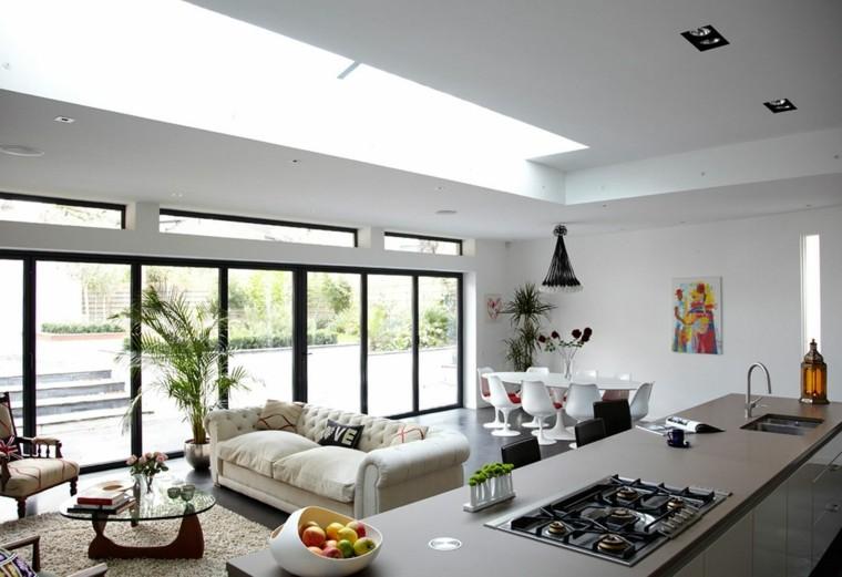 estupendo diseño salon cocina moderna