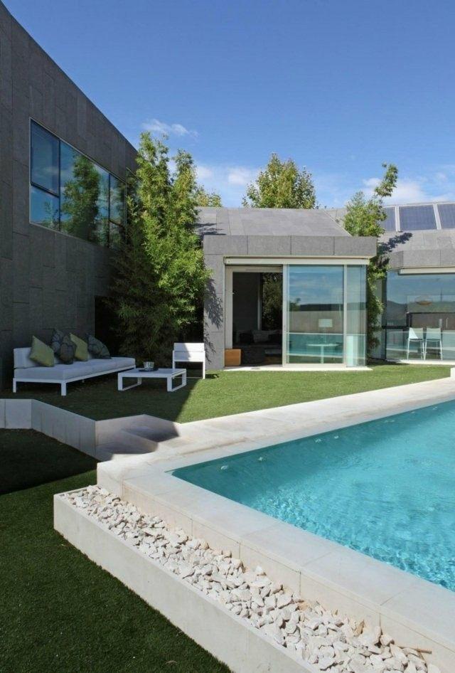 estupendo diseño piscinas modernas piedras