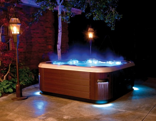 estupendo jacuzzi luces led azules with luces led para terrazas