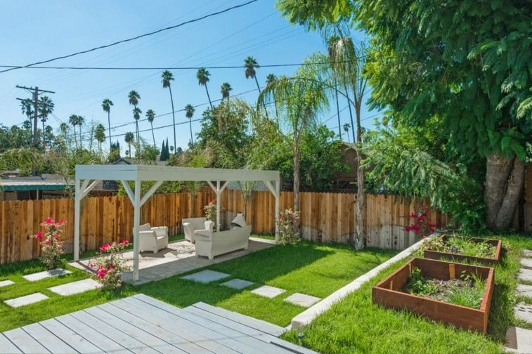 estupendo jardin diseo moderno pergola