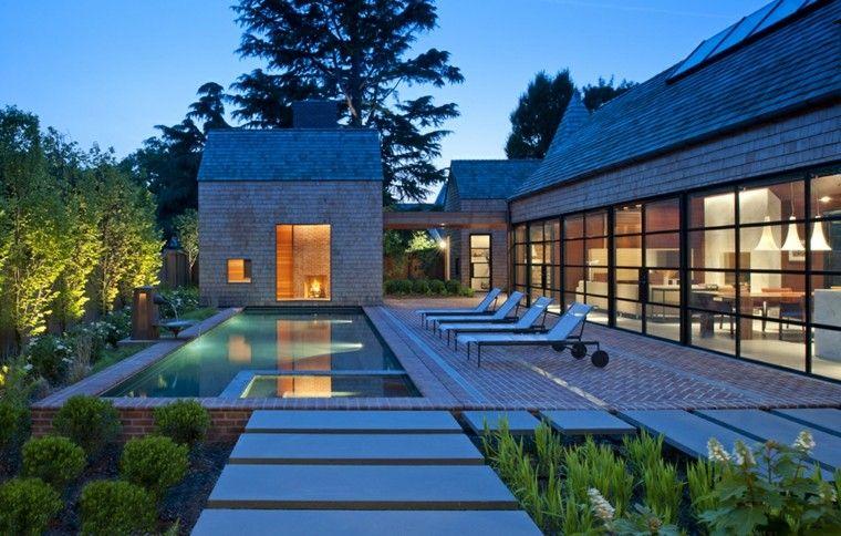 estupendo jardin diseño ladrillo visto