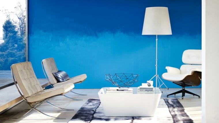 estupendo salon color azul intenso