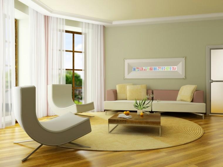 estupendo diseño salon verde clarito