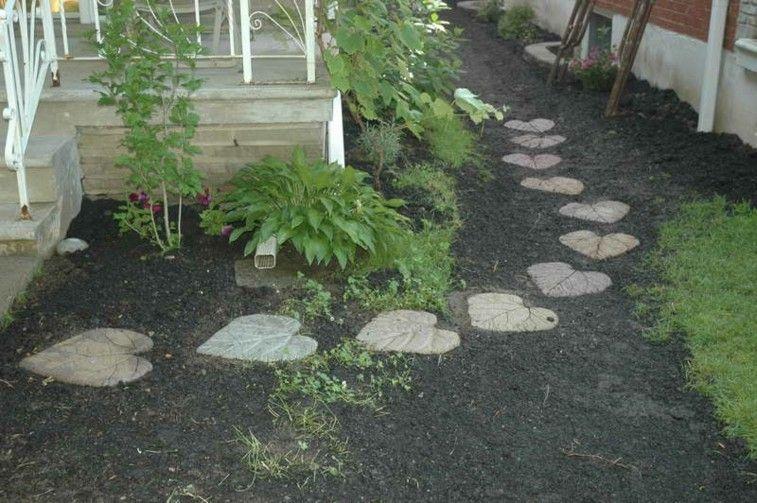 estupendo sendero piedras forma hojas