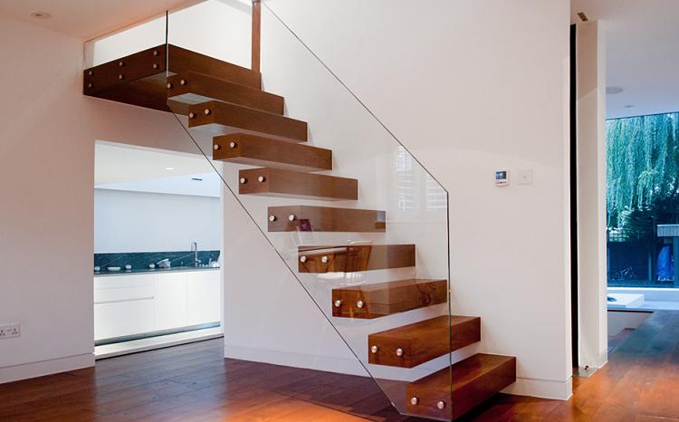 Escalera flotante 50 dise os que no te puedes perder for Escaleras minimalistas interiores