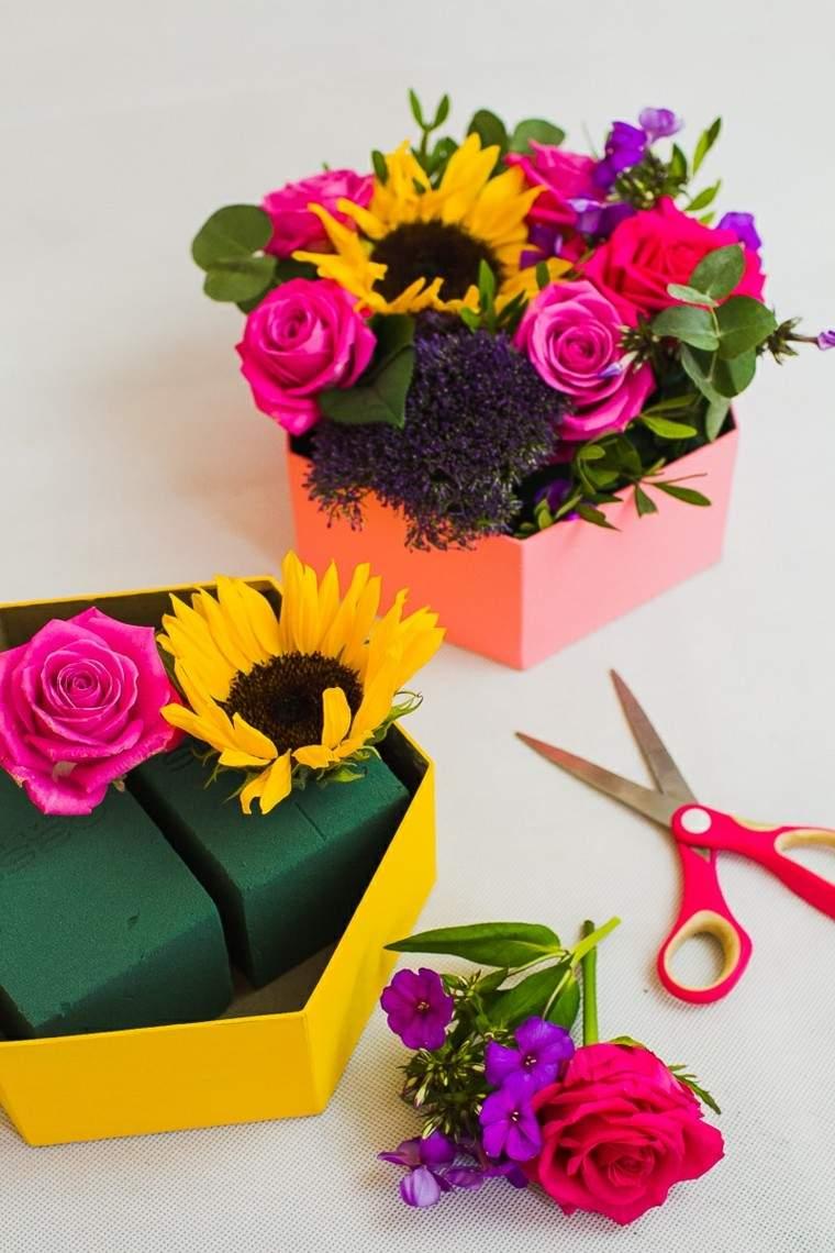 flores decorando pared casa original ideas