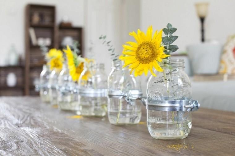 flores envace vidrio amarillas envases