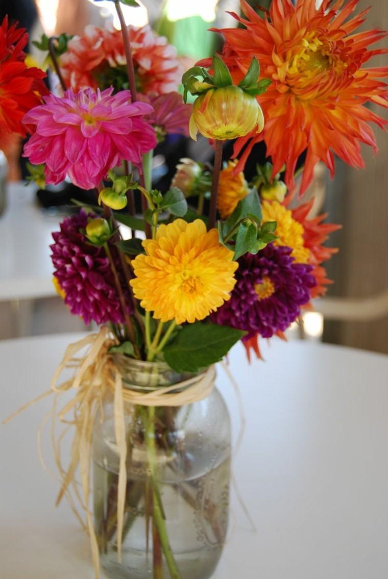 flores ramos pequenos decorar mesa ideas