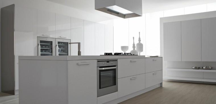 fotos de cocinas moderna isla funcional minimalista