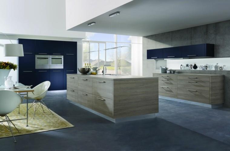 fotos de cocinas moderna mobiliario flores isla