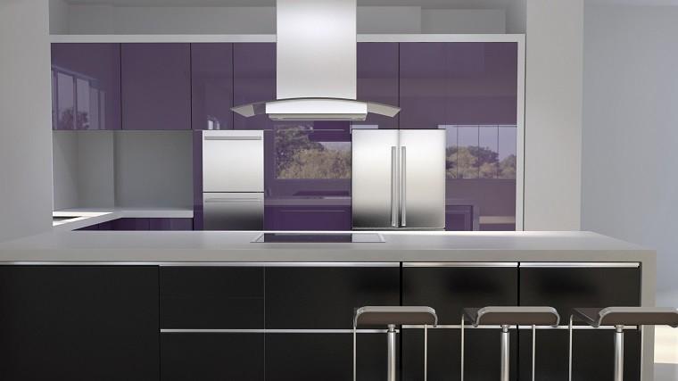 fotos de cocinas modernas malba brillo fresco