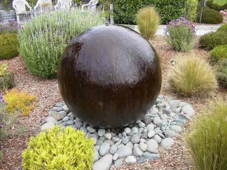 fuente agua bola grande deco