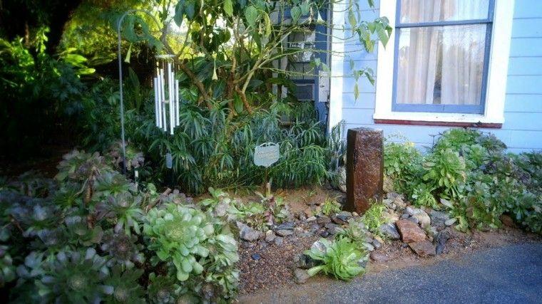 fuente bloque piedra plantas diseño