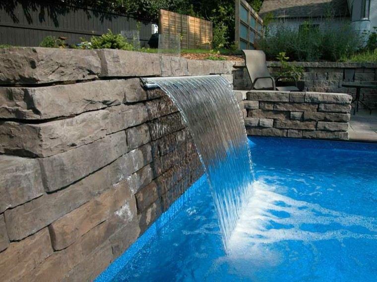 Cataratas y cascadas en el jard n 75 ideas for Construccion de piletas de agua