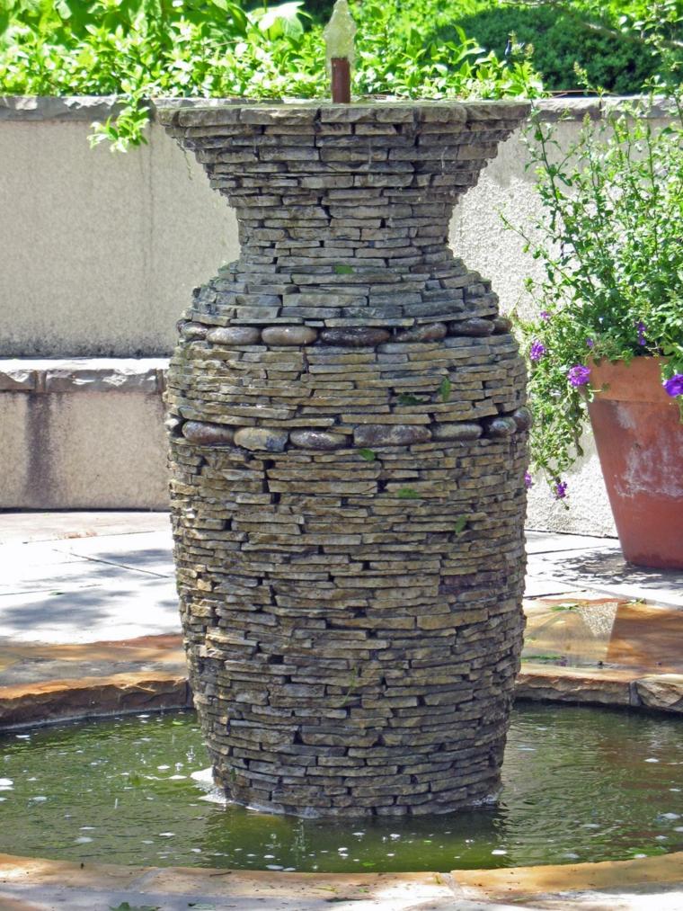 fuente forma jarra piedras lajas