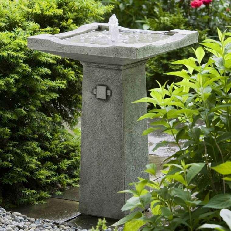 fuente piedra decoracion jardin