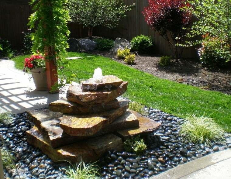 fuente piedras estilo zen rocas