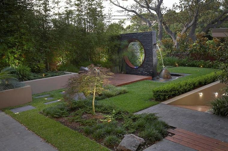 fuentes originales diseño moderno jardin