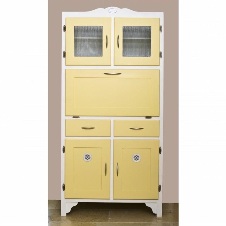 gabinete cocina color amarillo retro