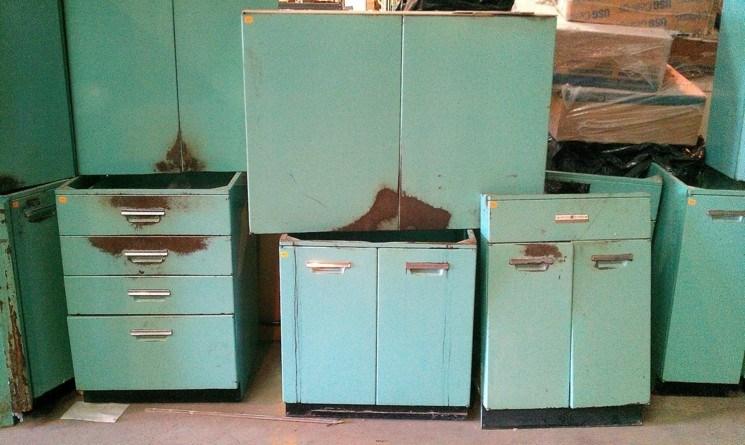 gabinetes viejos retro para restaurar muebles - Restaurar Muebles De Cocina