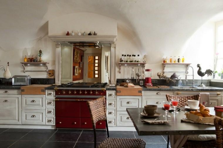Cocinas estilo campestre m s de 50 ideas motivantes a for Cuisine brocante chic