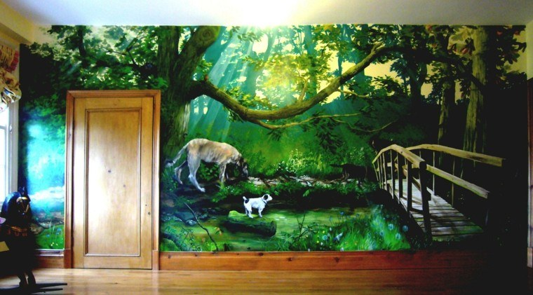 grafiiti disenos preciosos pared casa ideas