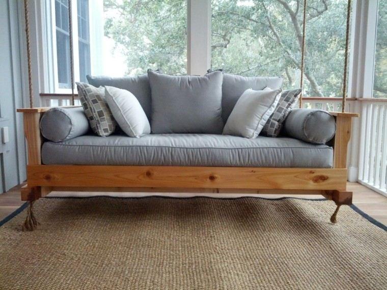 gris cuerdas madera alfombra imaginacion