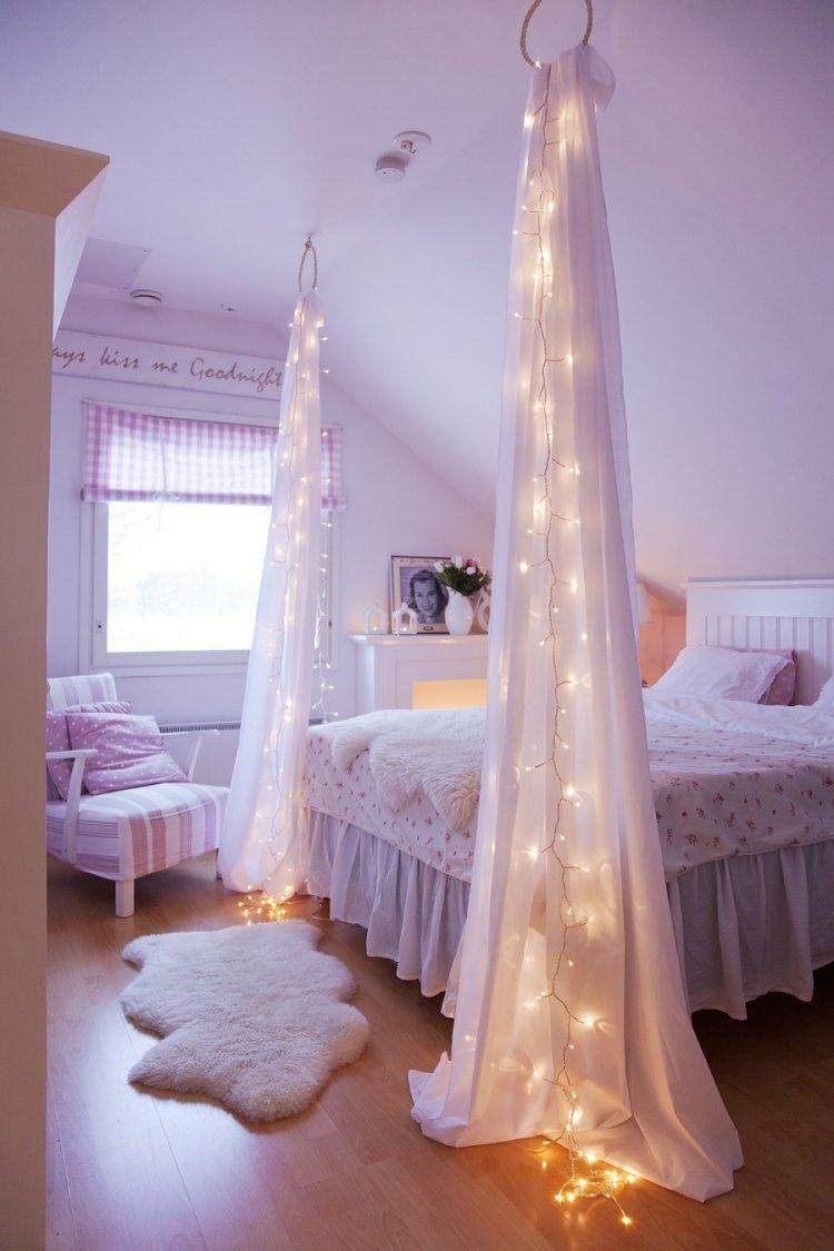 guirnaldas luces dormitorio infantil rosa