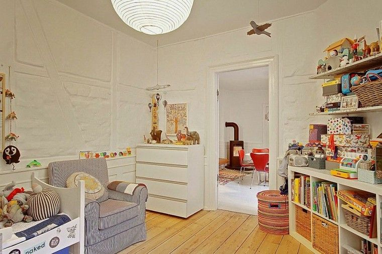 habitacion bebe butaca diseno escandinavo moderno ideas