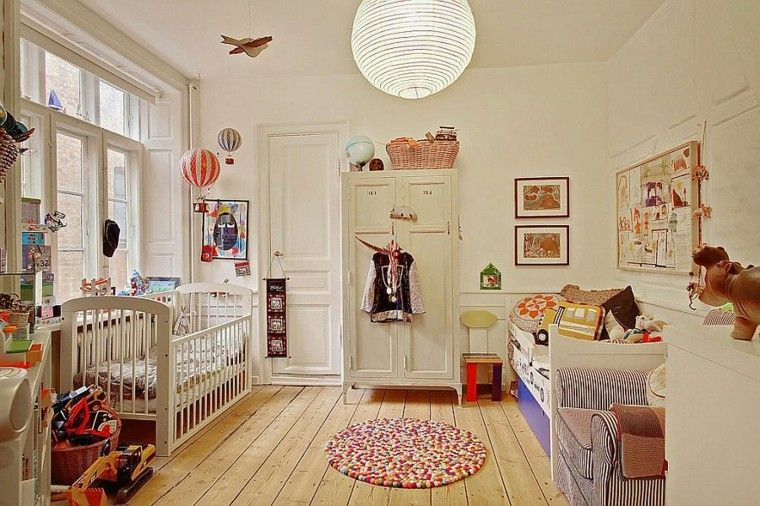 habitacion bebe butaca diseno escandinavo ideas