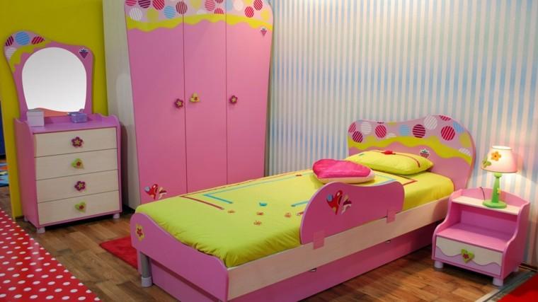 habitacion chica preciosa colores rosa armario ideas