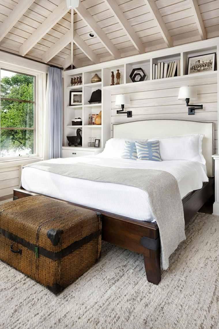 Habitacion Dise O R Stico 50 Ideas Para Vivir Lo Natural  ~ Habitacion De Matrimonio Blanca