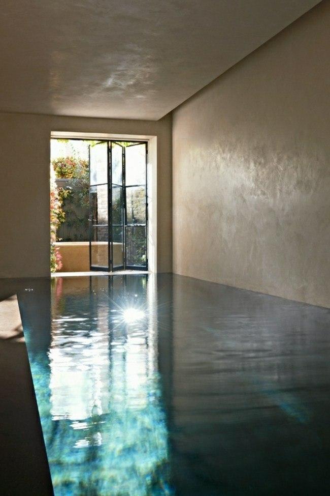 habitacion estilo minimalista piscina cubierta
