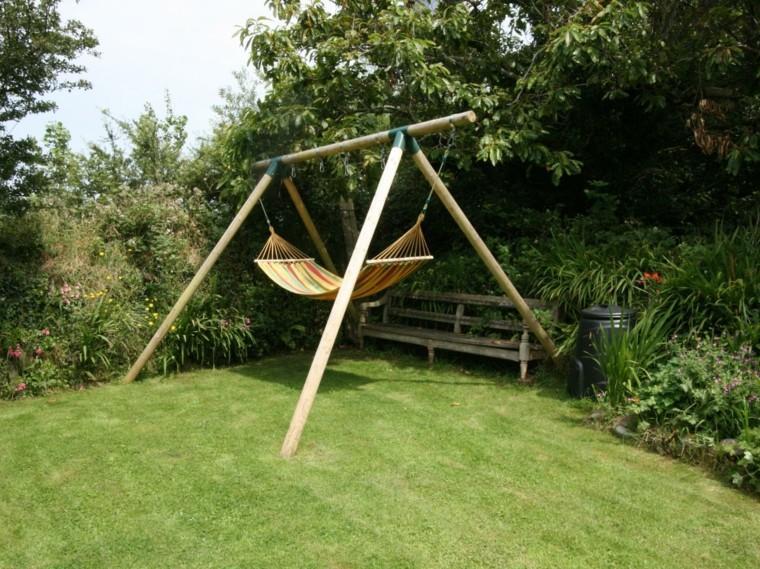 Muebles de jard n hamacas para tu espacio al aire libre - Hamacas para jardin ...