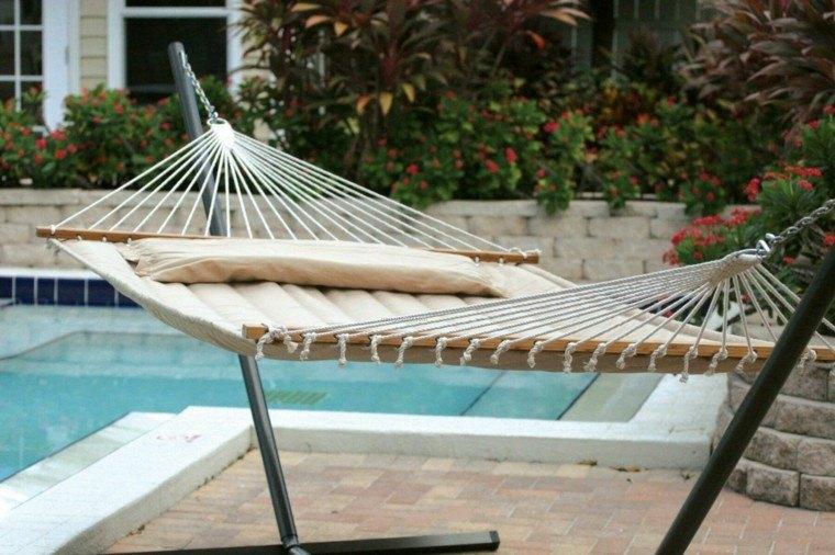 hamaca jardin piscina lugar descanso ideas - Hamacas Jardin