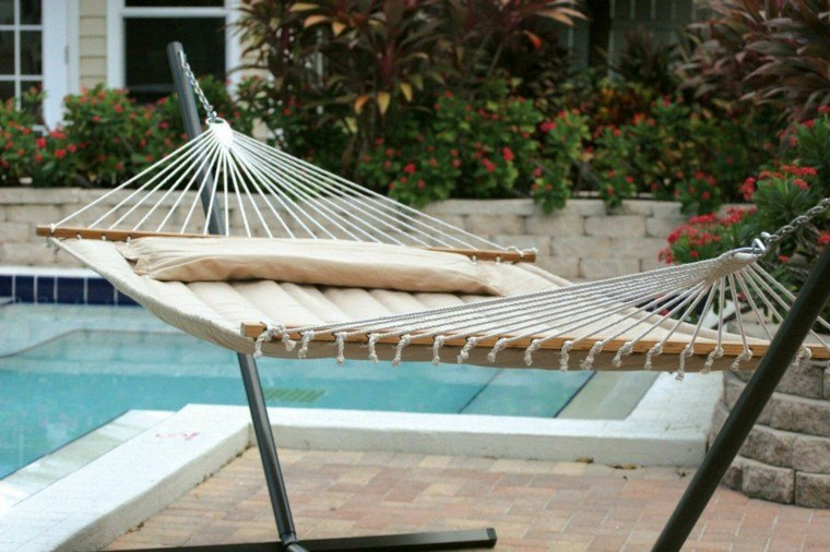 hamaca jardin piscina lugar descanso ideas
