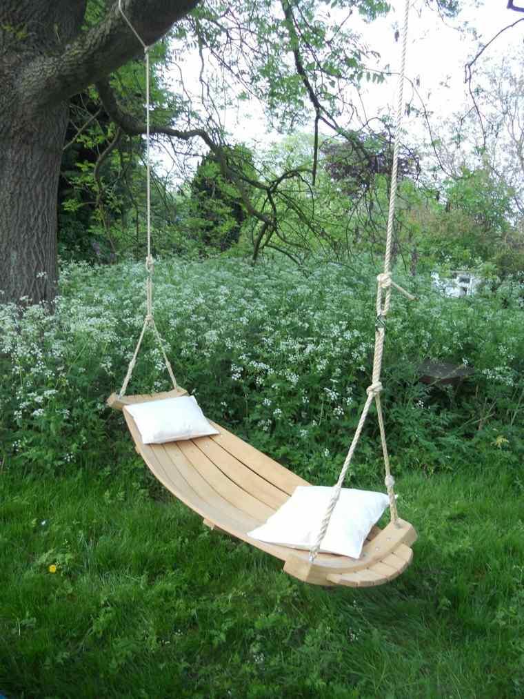hamaca madera preciosa jardin naturalidad ideas