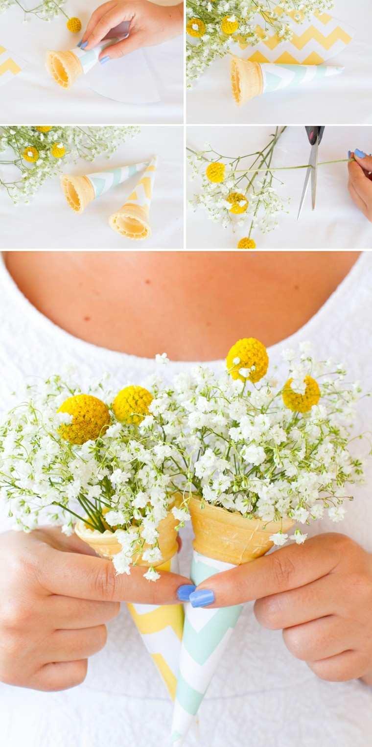 helado flores silvestres decoracion mesa ideas
