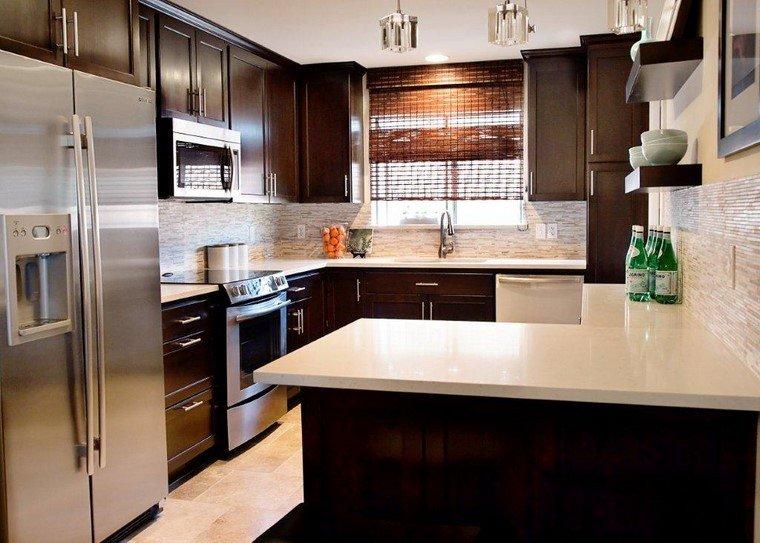 estilo cocina armarios madera moderna ideas