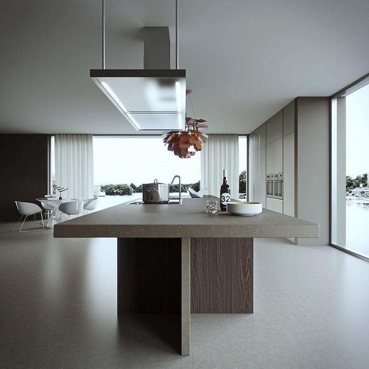 25 ideas de cocinas perfectas para los hombres modernos - Cocina suelo gris ...