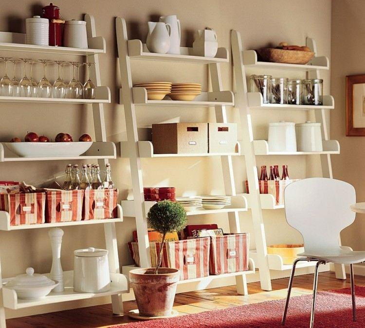 ideas creativas estanterias blancas cajones