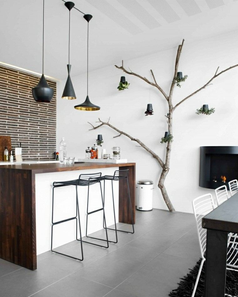 ideas decoracion diy arbol lamparas cocina