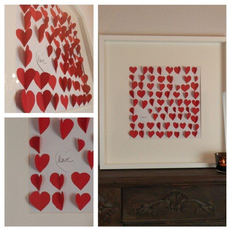 ideas decoracion diy marco cuadro corazones