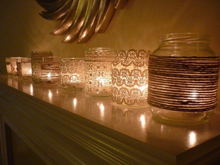 ideas decoracion diy noche velas calido