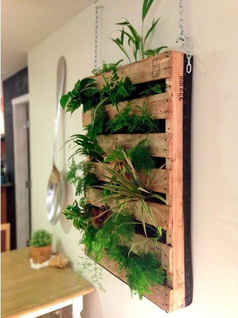ideas decoracion diy palet plantas comedor