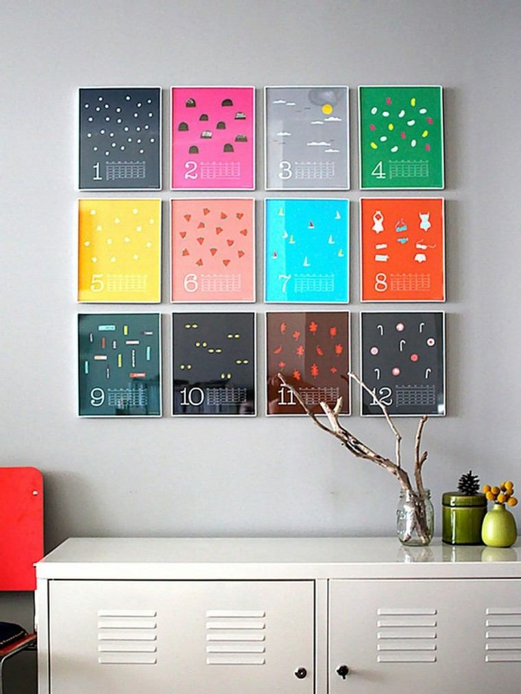 ideas decoracion diy ramas secas colorido