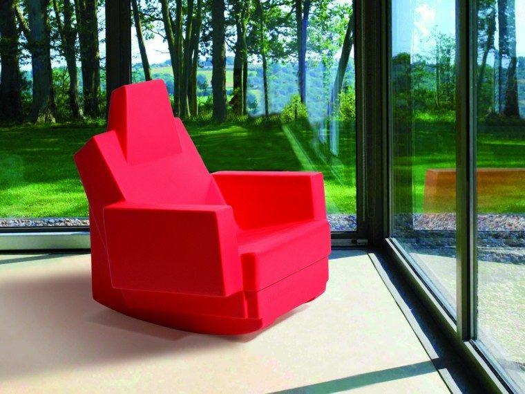 ideas estilo patio butaca roja preciosa