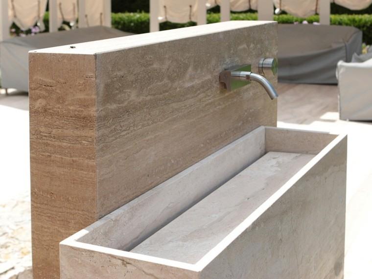 ideas estilo patio fuente agua marmol preciosa moderna