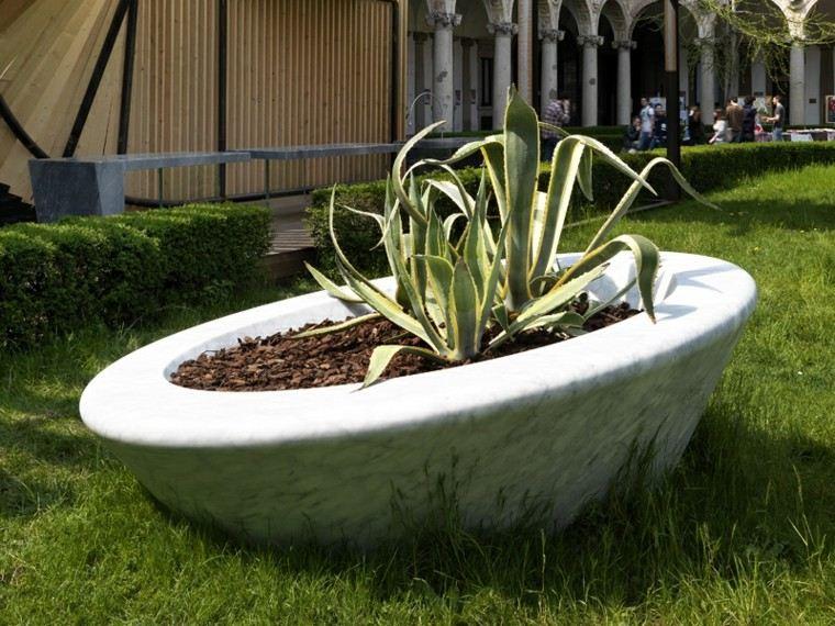 ideas estilo patio maceta marmol preciosa moderna