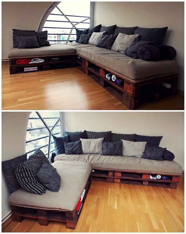 ideas pales sofa creativo madera suelo